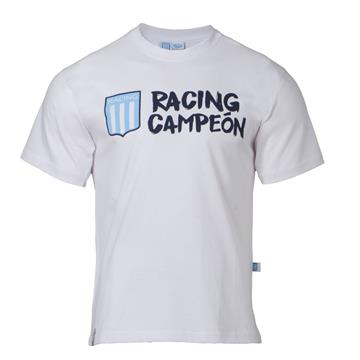 "REMERA ""RACING CAMPEON"" BLANCO"